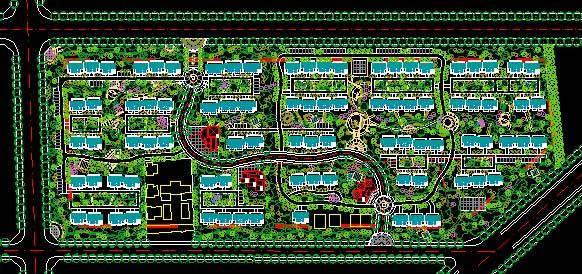 居住小区规划 居住小区规划cad 居住小区规划设计 居住小区规划平面图