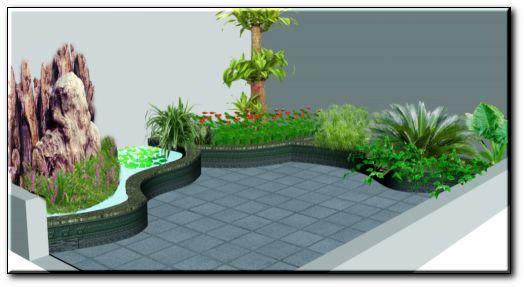 庭院设计效果图 绿化设计效果图