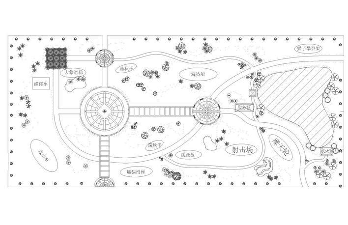 园林设计图 儿童公园