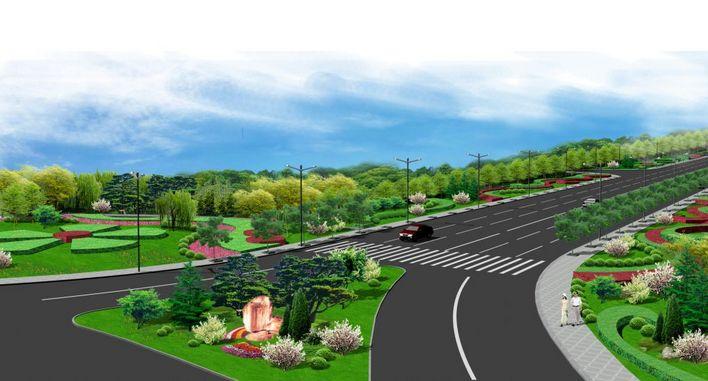道路交叉口景观设计