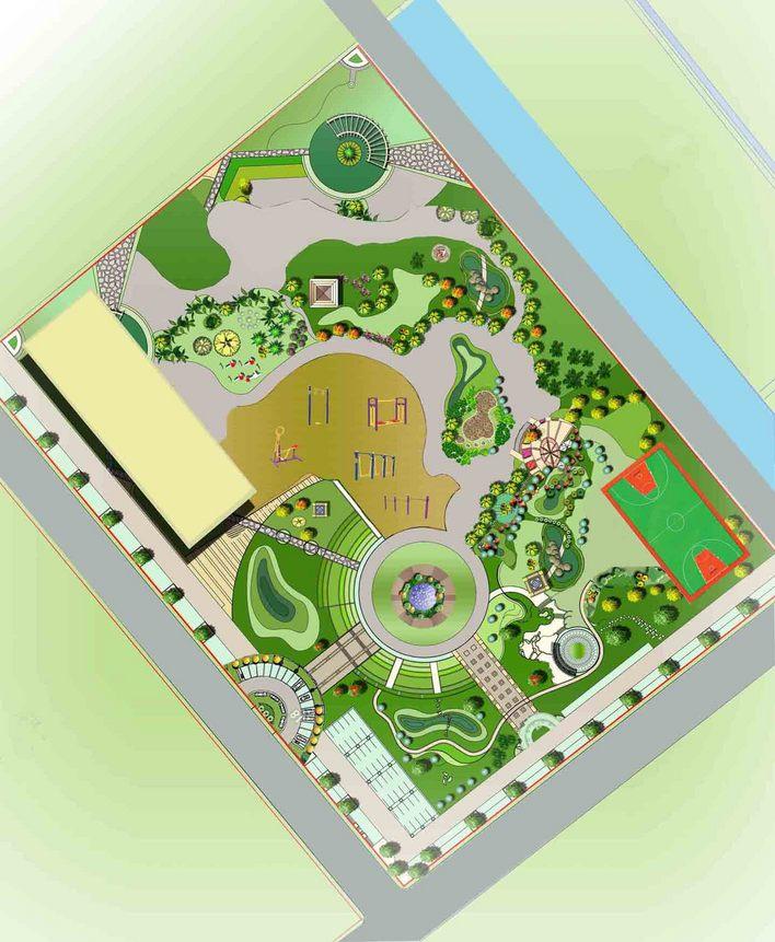 中心绿地总平面图
