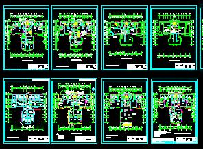 小高层、电梯、电气、框架......(cad图纸下载)-图1