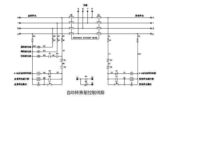 某小区双电源进线10kv配电工程设计施工图 双电源切换喷淋水泵二用一