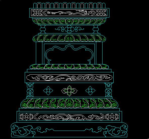 中式柱子图片
