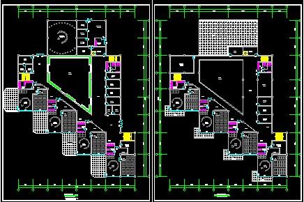12班幼儿园方案设计,面积3800左右,受地形影响与原先构思有些