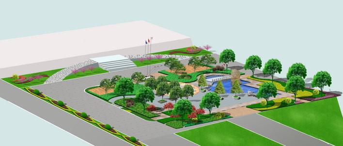 图纸 园林设计图 园林绿化及施工 广场游园绿化设计图 工厂绿化  上传