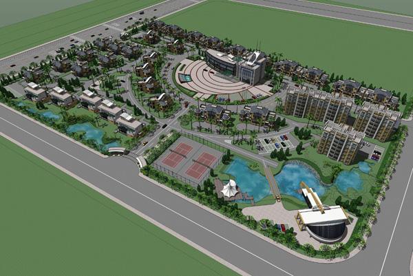 SketchUp小区景观设计(模型)-图1