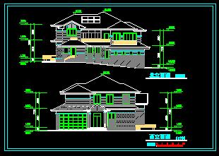 二层别墅图纸图片