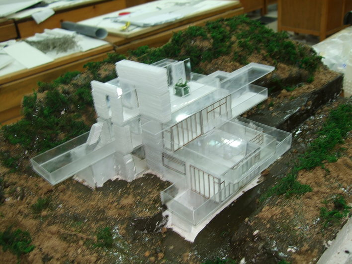 别墅模型制作 流水别墅 飞机模型制作图 流水别墅图纸  所属分类:建筑