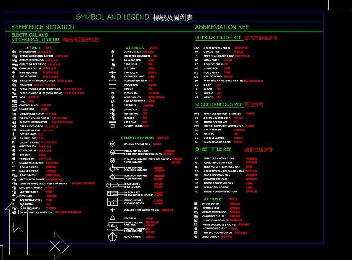 香港设计公司装修图例表