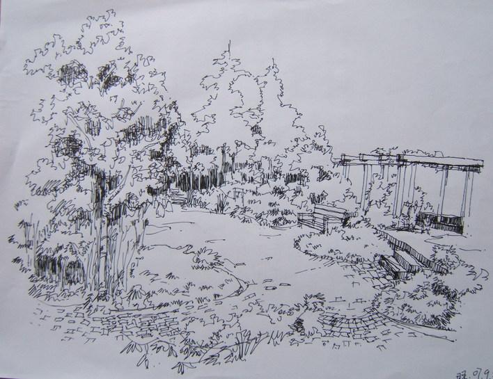 景观小品手绘 手绘景观小品 景观手绘小品 手绘景观剖面 景观石手绘