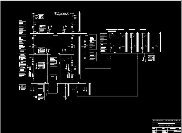 外国水电站电气主接线图
