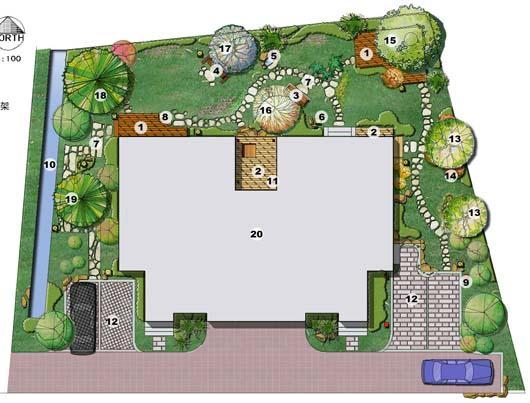 图纸 园林设计图 景观规划设计 庭院景观规划设计图 别墅庭院  上传