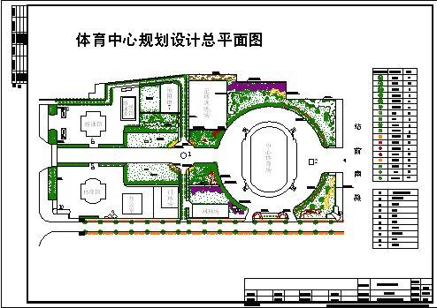 体育中心规划设计总平面图