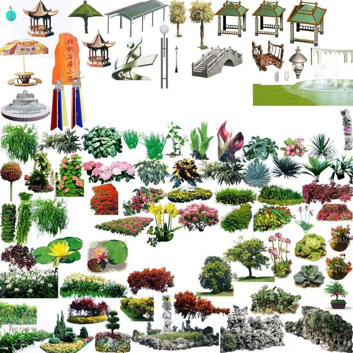 ps植物平面图块手绘图标