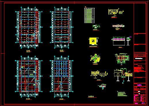 钢结构大跨度厂房连行车梁_cad图纸下载-土木在线