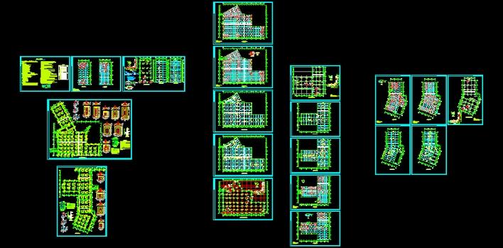 结构施工图(含地下车库) 地下车库,采用大梁大板无次梁全套结构结构