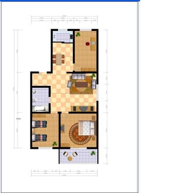 家装平面彩平图纸