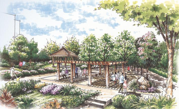 相关专题:建筑设计手绘图纸 cad绘图纸 园林景观小品手绘图 园林