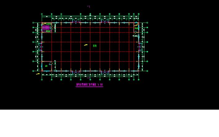 某门式刚架单层厂房平面图