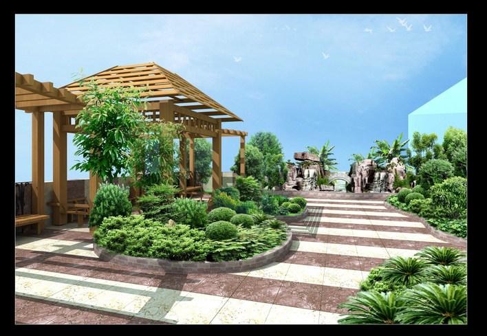 家庭花园的设计:屋顶花园设计图,空中花园设计,都市慢生活,快乐慢生活