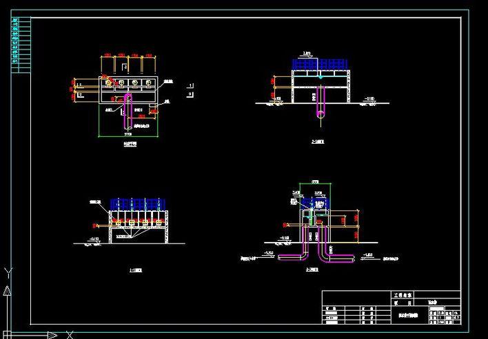 某污水厂二沉池配水井方案设计图纸
