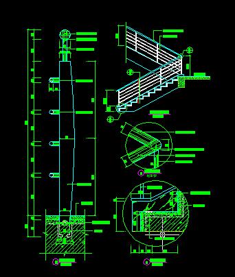 楼梯cad 施工图