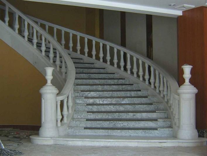 白玉大理石旋转楼梯CAD三维立体图