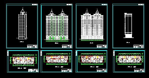 图纸 建筑图纸 居住建筑 住宅单体平面,立面,剖面图 板式高层住宅户型图片