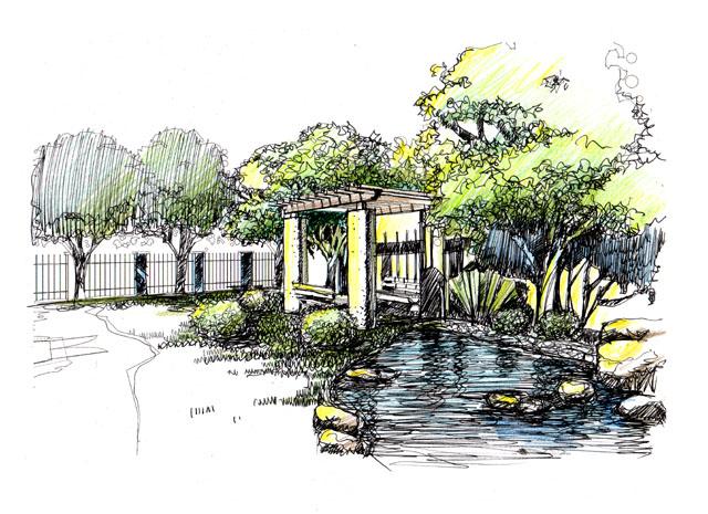 园林设计图  景观手绘