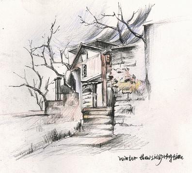 30张很好的手绘作品,包括景观,建筑,室外!