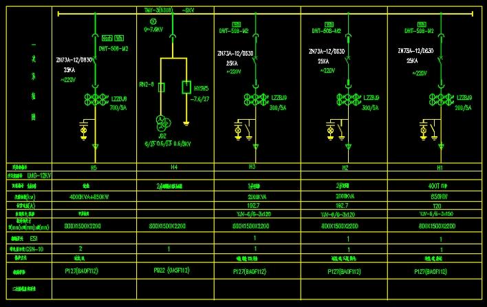 1250kva箱式变电站全套电气施工图纸 某地区的水泥厂35kv变电站电气图片