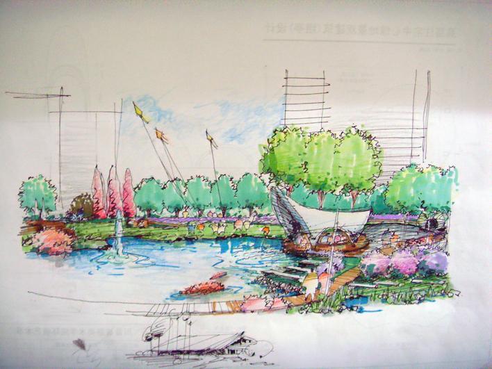 图纸 园林设计图 小环境手绘效果  上传时间:2008-02-28 所属分类