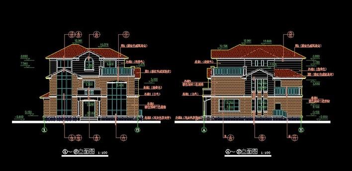 图纸 建筑图纸  别墅设计    单体别墅,欧式风格.