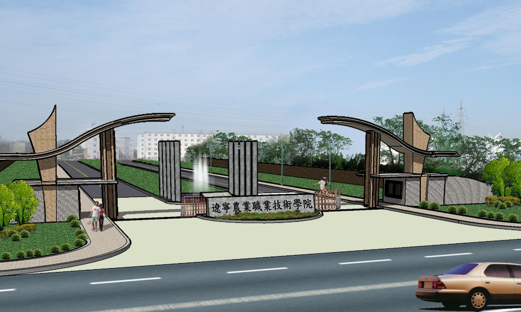 小区cad平面图下载)  围墙大门设计图(围墙设计图)  学校大门设计方案