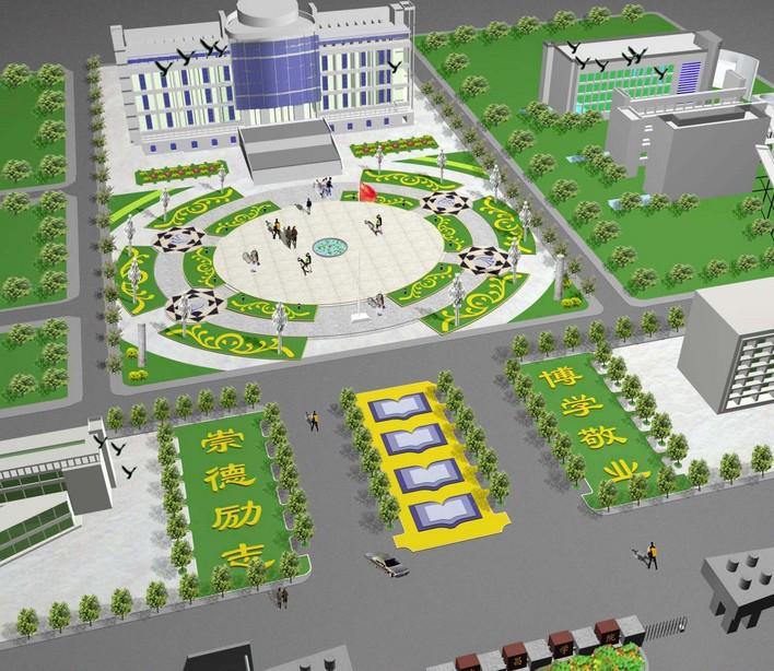 大学校园广场设计 校园广场景观设计