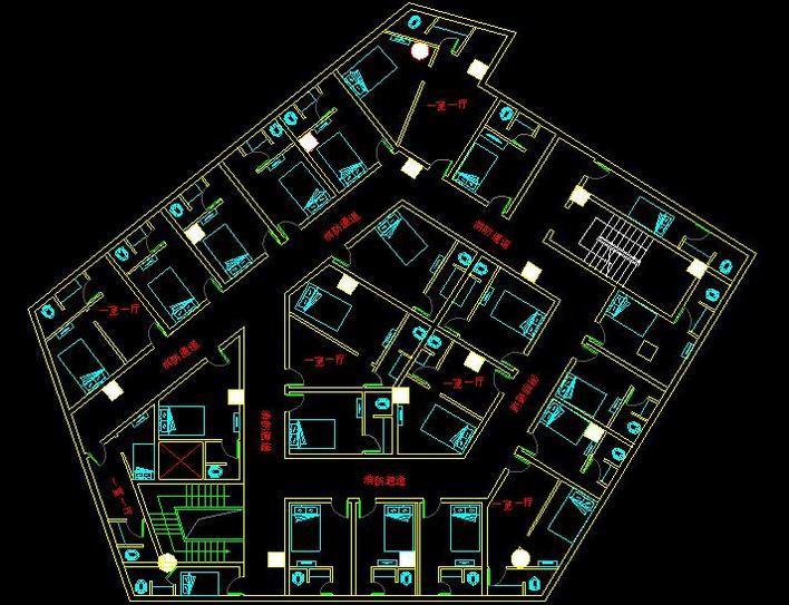 某古建七层八角玲珑宝塔建筑全套施工图