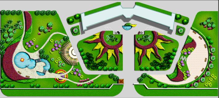 街头绿地,园林景观设计施工图纸资料下载_定鼎园林; 温室大棚设计施工