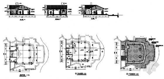 临水茶室结构详图(cad图纸下载)-图1