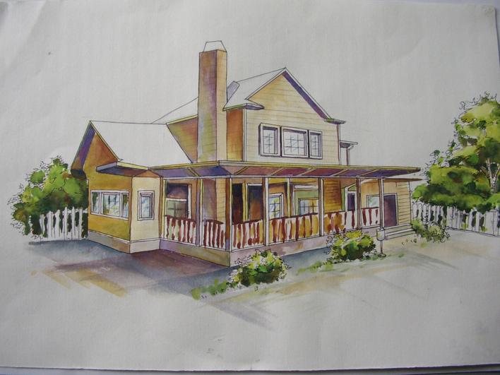 图纸 建筑图纸  手绘效果图   我的第一张效果图!请多多指教!