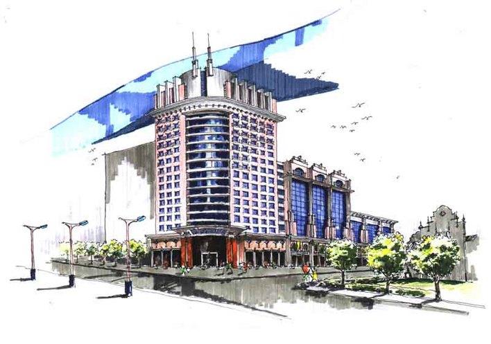 建筑马克笔表现技法 经典马克表现建筑 经典马克笔手绘小区规划总平面