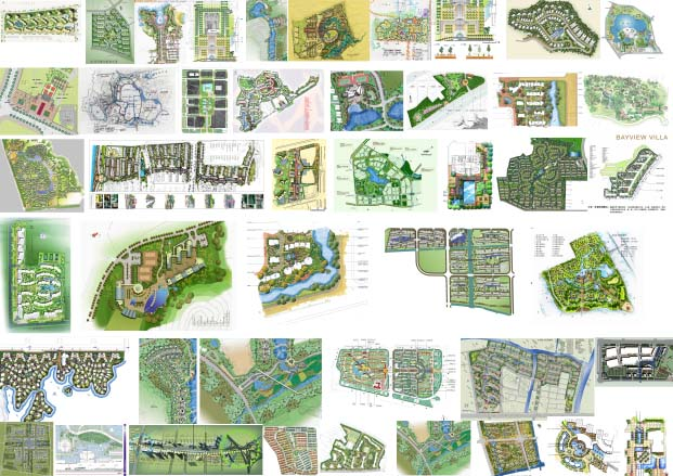 小型庭院景观设计图
