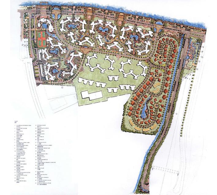 图纸 园林设计图  某楼盘景观概念设计   很详细的一份图纸!