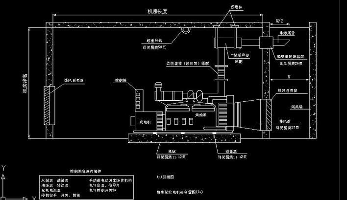 发电机房设计图_柴油发电机图集_cad图纸下载-土木在线