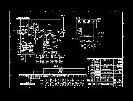 电机控制原理图,plc端子接线图.  dcs控制电机原理.