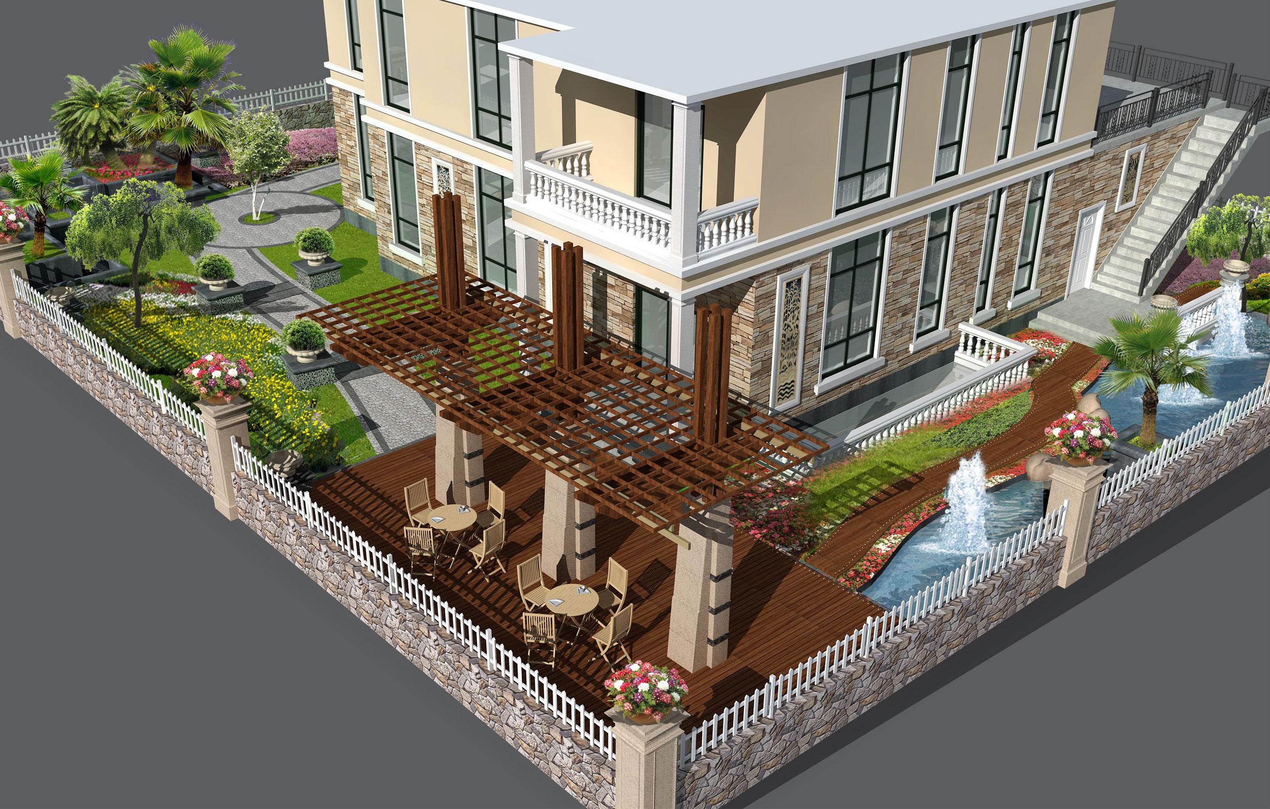 某别墅庭院景观设计及绿化施工图全套