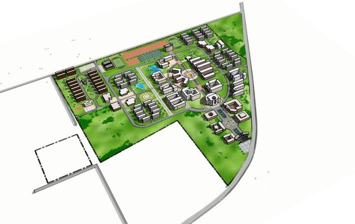 收藏此图纸 简介:大学校园规划 相关专题:校园规划校园规划设计校园图片
