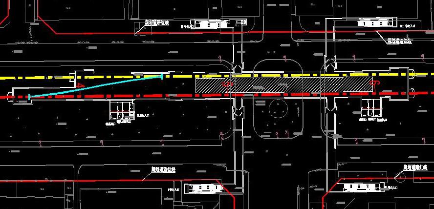 地铁车站平面图