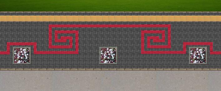 效果图   便道铺装式样效果图   道路及高速公路绿化设计图 高清图片