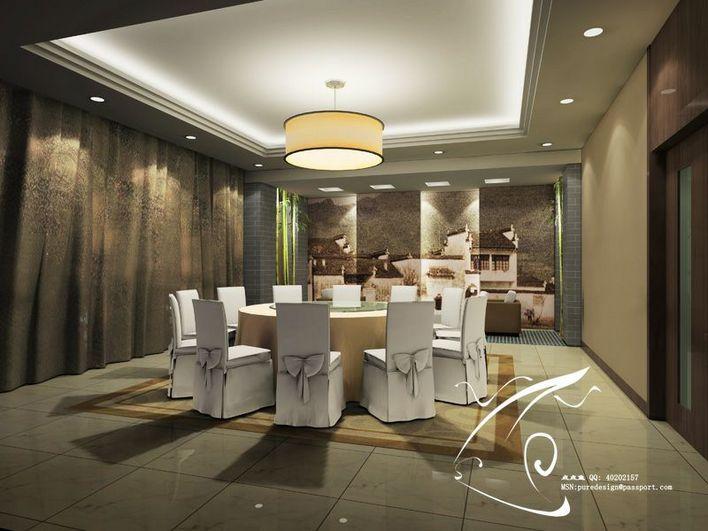 中式风格别墅装修效果图 中式风格住宅装修效果图 咖啡厅包间效果图